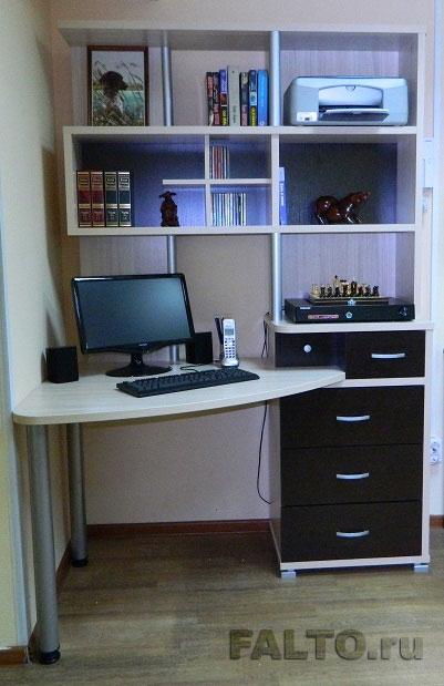 угловой письменный стол с надстройкой венеция 320