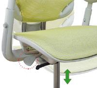 Кресло регулируется по высоте