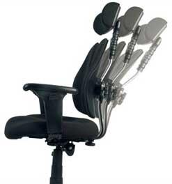 Кресло оснащено регулируемым по высоте подголовником с возможностью изменения угла наклона