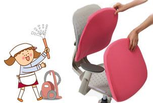 сиденье и спинка легко снимаются для чистки и мытья