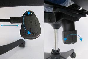 Механизмы настройки компьютерного кресла Star Euro