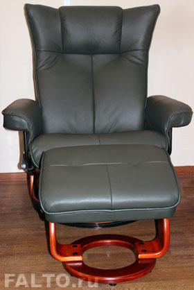 Кожаное кресло-реклайнер Релакс Маурис