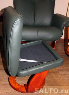 кресло-реклайнер Relax Маурис с функциональной подставкой для ног