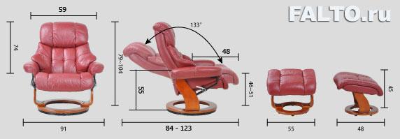 Габариты кресла Relax Люкс